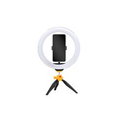 Kodak Ringlicht, Selfie LED Ringlicht mit Stativ für alle Smartphones (25cm Durchmesser der Ringleuchte, Verstellbare Helligkeit und Farbbalance, 1600 Lumen, Perfekt für Instagram, Snapchat, Tik Tok und Co)