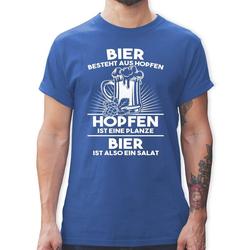 Shirtracer T-Shirt Hopfen ist eine Pflanze Bier ist Salat - Sprüche - Herren Premium T-Shirt - T-Shirts bier ist aus hopfen, also salat M