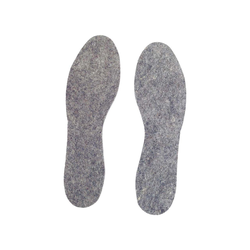 Schuheinlagen aus Wollfilz, Gr. 44-45
