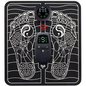 Elektrisches Fußmassagegerät,Fussmassagegerät Elektrisch, EMS Intelligente Fussmassagegerät für Entspannung, Tragbare Massagematte Muskel-Stimulatior (A)