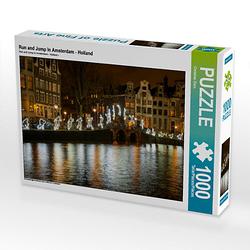 Run and Jump in Amsterdam - Holland Lege-Größe 64 x 48 cm Foto-Puzzle Bild von Christian Dorn Puzzle