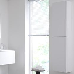 Hoher Badschrank 350x1500mm, Wandmontage - Mattweiß - Newington