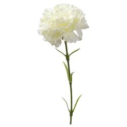 Kunstblume Nelken künstlich Blumen 1 Stk ca 52 cm cremeweiß Nelken, matches21 HOME & HOBBY, Höhe 52 cm, Indoor