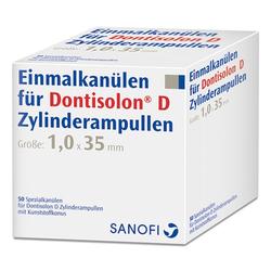 DONTISOLON D Einmalkanülen für Dontisolon D Zylinderampullen 50 St