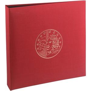 Exacompta 96105E Premium Münzalbum Numismatik mit 5 Seiten für je 43 Münzen in 20, 25 und 30mm, getrennt durch rote Register, Münzenalbum Sammelalbum Ringbuch bordeaux