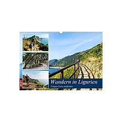 Wandern in Ligurien (Wandkalender 2021 DIN A3 quer)