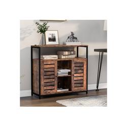Gotui Sideboard, Sideboard, Abstellraum mit zwei Türen, Küchenschrank, Schrank, Industriedesign, 90 * 30 * 80cm