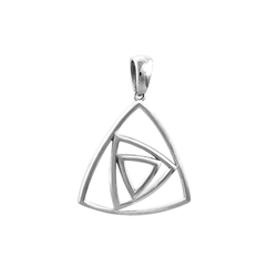 SilberDream Kettenanhänger SDH429J SilberDream Dreiecke Kettenanhänger Silber (Kettenanhänger), Dreiecke Kettenanhänger 925 Sterling Silber, Farbe: silber