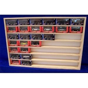 V19 Vitrine Modellauto Sammlervitrine Holz Setzkasten Spur N und Z 90 x 61 x 8,5 - mit Plexiglasscheiben