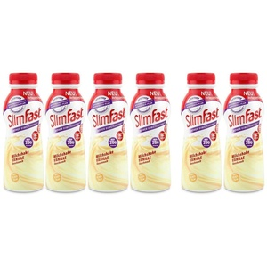 Slim Fast Fertigdrink Vanille 4 x 325 ml + gratis 2 x 325 ml