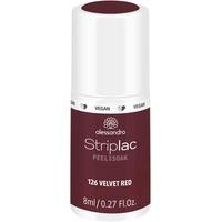 Alessandro Striplac Peel or Soak 126 velvet red 8 ml
