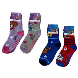 PAW PATROL Haussocken PAW PATROL Rutschfeste Socken Jungen + Mädchen Hausschuhe rutschfeste Sohle Noppensocken Gr. 23 24 25 26 27 28 29 30 31 32 33 34 Kindersocken 23/26