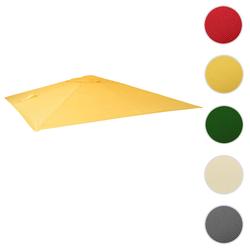 Bezug für Luxus-Ampelschirm HWC-A96, Sonnenschirmbezug Ersatzbezug, 3x4m (Ø5m) Polyester 3,5kg ~ gelb