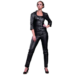 Fetish-Design Lederhose Lederhose Katy Lamm Nappa Leder Schwarz S (36)