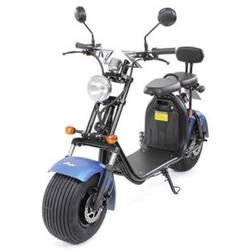 eFlux Harley Two Elektro Scooter mit Straßenzulassung 1500 Watt 60 Volt mattblau