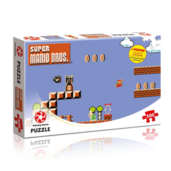 Winning Moves Steckpuzzle Puzzle Super Mario Bros - High Jumper, 500 Puzzleteile