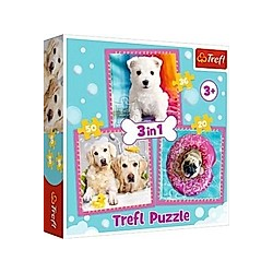 3 in 1 Puzzle - Hunde (Kinderpuzzle)