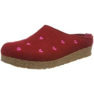 Haflinger Couriccini Grizzly, Unisex-Erwachsene Pantoffeln, Rot (Paprika 42), 42 EU