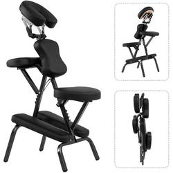 COSTWAY Massagesessel Tattoostuhl Therapiestuhl Klappmassagestuhl, mit Tragetasche, tragbar & klappbar