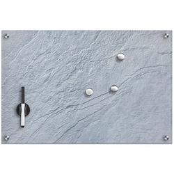 Zeller Glas-Magnettafel   60,0 x 40,0 cm Schiefer grau