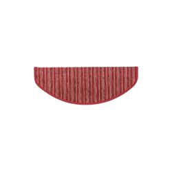 Stufenmatte Rom, Kubus, Halbrund, Höhe 4 mm rot Halbrund - 19 cm x 56 cm x 4 mm
