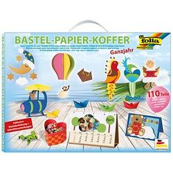 folia Bastelset Papier-Koffer Ganzjahr 110-tlg.