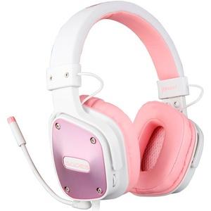 Sades Dpower SA-722 Gaming-Headset (Kompatibel mit PS4, PS5, Xbox One, Xbox Series X/S und Nintendo Switch) rosa
