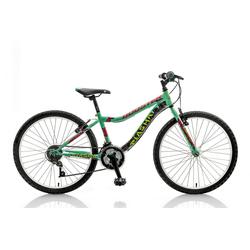 breluxx Mountainbike 24 Zoll Kinderfahrrad Mountainbike BOOSTER Plasma türkis, 18 Gang, Kettenschaltung
