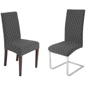 Stuhlhusse Universal Stretch Stuhlhussen Sets von Beautex, elastische Husse Bi-Elastic, Bjorn, Farbe wählbar, Beautex grau
