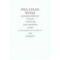 Werke: Bd.4 Von Schwelle zu Schwelle  2 Tle.. Paul Celan  - Buch