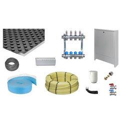 Zewotherm Fußbodenheizung Paket 50m² Noppenplatte NP 30-2 WLG 040, PE-Xc Rohr 17x2
