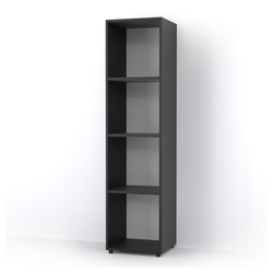 Vicco Raumteiler 4 Fächer Schwarz 140 x 36 cm - Standregal Hängeregal Regal TV Lowboard Sideboard
