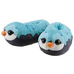 Nici NICIdoo Pinguin Plüsch Hausschuhe mit großen Glubschaugen