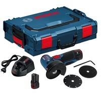 Bosch GWS 12V-76 Professional inkl. 2 x 2,5 Ah + L-Boxx 06019F2002