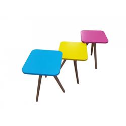 Möbel-Lux Beistelltisch Candy (3-St), Beistelltisch Couchtisch 3er Set Bunt aus MDF