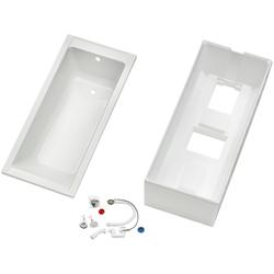 OTTOFOND Badewanne Set Körpferformbadewanne, (3-tlg), 1400/700/400 mm, Körperformbadewanne