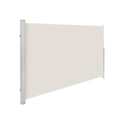 tectake Seitenarmmarkise Aluminium Seitenmarkise natur 160.0 cm