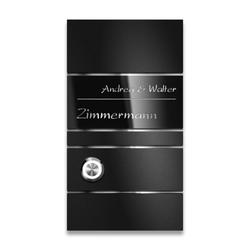 Edelstahl Design Türklingel Black-Edition