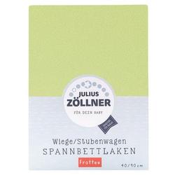 JULIUS ZÖLLNER Spannbettlaken Frottee für Wiege grün 40x90cm