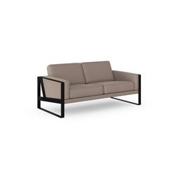 machalke® 2-Sitzer frame, Ledersofa mit Kufe in Schwarz grau