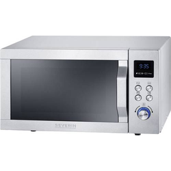Severin MW 7751 Mikrowelle Silber 800W Grillfunktion