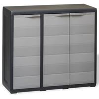 vidaXL Gartenschrank 0,97 x 0,38 x 0,87 m schwarz/grau