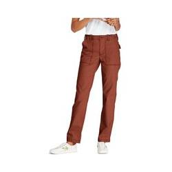 Straight Chinos im Worker-Stil, Damen, Größe: M Normal, Orange, Baumwolle, by Lands' End, Pampelmuse - M - Pampelmuse