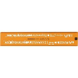 Schriftschablone Rumold 7.0mm orange/transparent