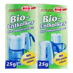ORO®-fix Bio-Entkalker Granulat, Bio-Entkalker für alle Haushaltsgeräte, 1 Packung = 2 x 25 g
