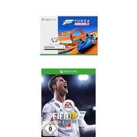 Microsoft Xbox One S 500GB + Forza Horizon 3: Hot Wheels (Bundle) + FIFA 18 ab 229€ im Preisvergleich