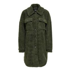 ONLY Teddy Hemd Jacke Damen Grün Female M