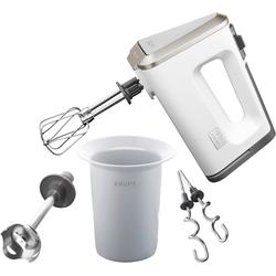 Krups Handmixer 3 Mix 9000 Deluxe Pürierstab GN9031, 500 Watt, Mixer, 21270406-0 weiß weiß