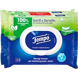 Tempo Feuchttücher Sanft & Sensitiv Duo-Pack 2x 42 Tücher