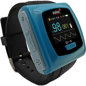 Pulox Pulsoximeter PO 400 Aufnahmefunktion, Finger, OLED-Display, Speicher, blau